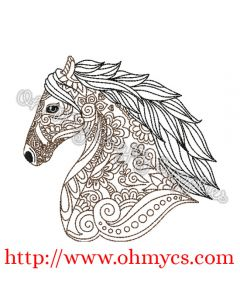 Henna Horse Head Picture