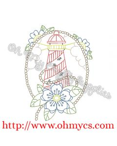 Henna Light House with Border Picture