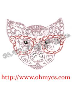 Henna Pig with Glasses Picture
