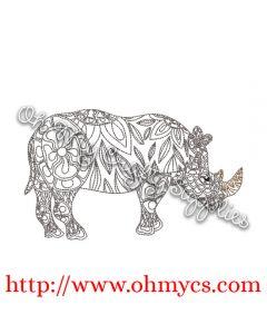 Henna Rhino Picture