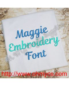 Maggie Embroidery Font Picture