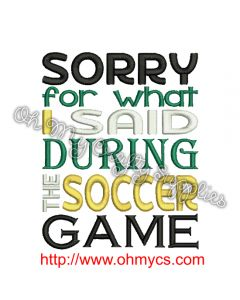 Soccer Apology