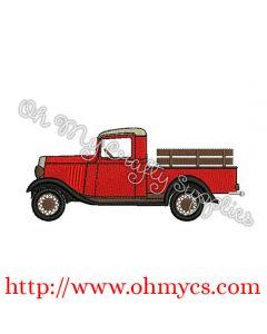 Solid Stitch Vintage Truck