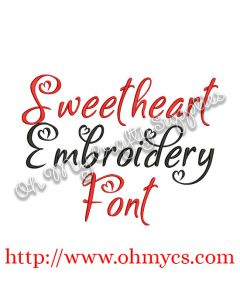 Sweetheart Embroidery Font Picture