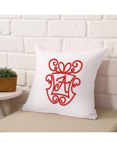 Monogram Christmas Present Font Embroidery Design