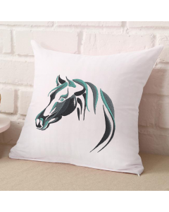 Abstract Horse Head Embroidery Design