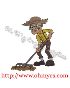 Albert Gardening and Farming Embroidery Design
