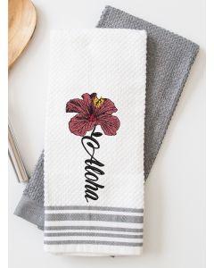 Aloha Hibiscus Flower Embroidery Design