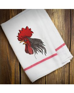 Blended Angry Rooster Embroidery Design