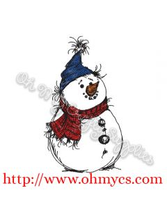 Another Snowman Embroidery Design