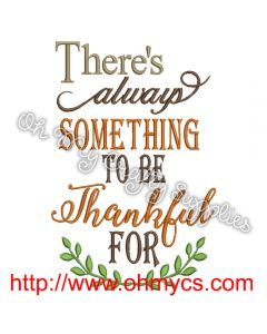 Always Thankful Embroidery Design