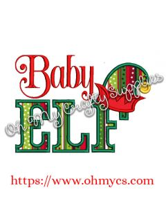 Baby Elf Applique Design