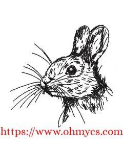 Baby Bunny Rabbit Sketch Embroidery Design