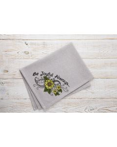Be Joyful Always.. Sunflower Embroidery Design