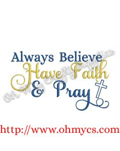 believe faith pray picture