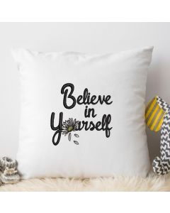 Believe in Yourself Daisy Embroidery Design