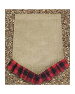 Garden Flag (Blk & Red Plaid V Bottom)