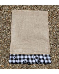 Garden Flag (Blk & White Plaid Rectangle)