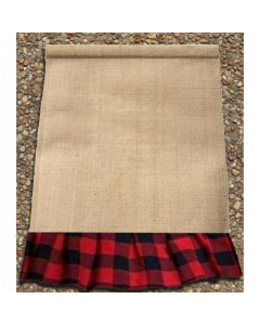 Garden Flag (Blk & Red Plaid Rectangle)