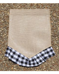 Garden Flag (Blk & White Plaid V Bottom)