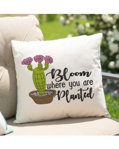 Bloom where you are Planted Embroidery Design