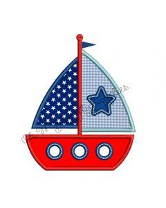 Boat Applique Embroidery Design