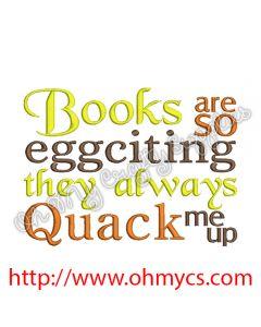 Books Quack Me up Embroidery Design