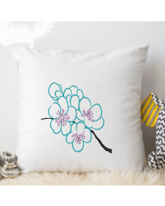 Branch with Flowers Embroidery Design