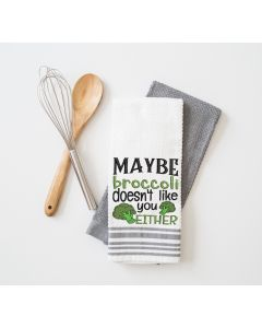 Broccoli doesn't like You Embroidery Design