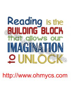Building Block to Imagination Embroidery Design
