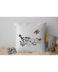 Bumble Bee Spring Vine Embroidery Design