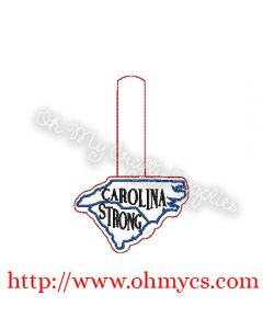 ITH Carolina Strong Key Embroidery Design