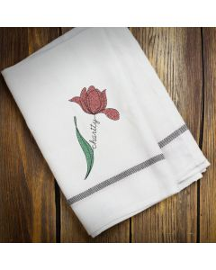 Charity Flower Embroidery Design