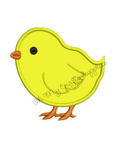 Chick Applique Embroidery Design