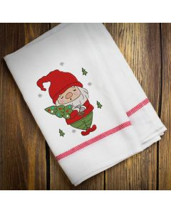 Christmas Tree Gnome Embroidery Design