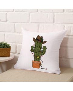 Christmas Western Cactus Embroidery Design