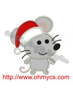 Christmas Mouse Embroidery Applique