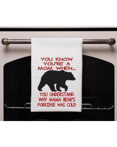 You're a mom when Cold Porridge Embroidery Design