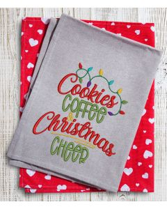 Cookies Coffee and Christmas Cheer embroidery Design