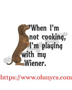 Cooking Playing with Wiener Embroidery Design