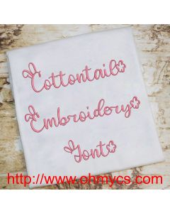 Cottontail Embroidery Font (BX Included)