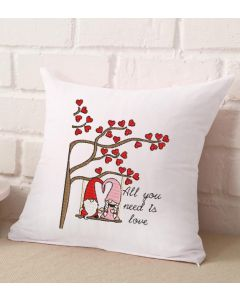 Gnome Couple Tree Swing Embroidery Design