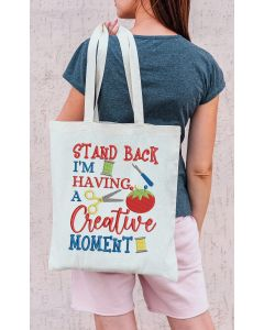 Stand back creative moment Embroidery Design