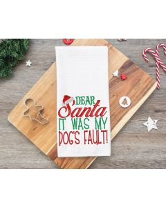 Dear Santa Dog's Fault Embroidery Design
