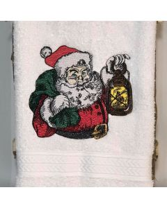 Detailed Santa Claus Colored Sketch Embroidery Design