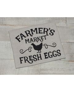 Farmer's Market Fresh Eggs Embroidery Design
