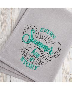 Every Summer has a Story Embroidery Design