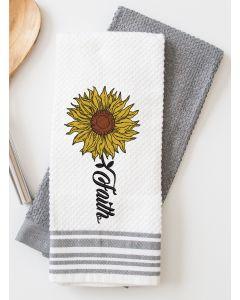 Faith Sunflower Embroidery Design