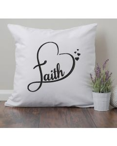 Faith Heart Embroidery Design