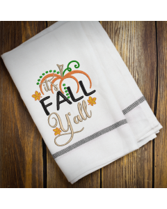 Fall Y'all Pumpkin Embroidery Design